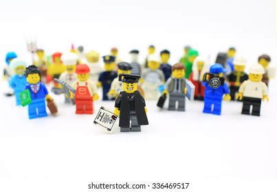 HONG KONG - OCTOBER 26, 2015 Lego mini figure  from different set. Studio shot in hong kong on 26 oct 2015. Legos,a popular line of plastic construction toys manufactured by The Lego Group in Denmark