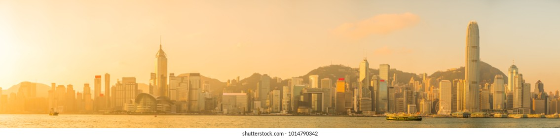 Hong Kong panorama in the morning