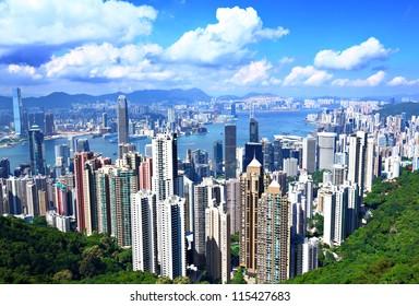Hong Kong from peak
