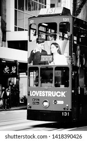 Hong Kong, SAR of China - January 17th 2017: Public Transport System in Hong Kong, a Lovestruck Tram