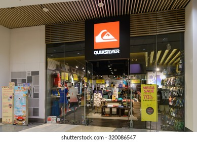 HONG KONG - SEPT 25, 2015. Quiksilver Store in Hong Kong. Quiksilver is an international brand of sportswear, leading maker of water sportswear and outdoor footwear.