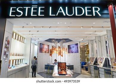 HONG KONG - SEPTEMBER 02, 2016: cosmetics store in Hong Kong. Hong Kong's cosmetics market is highly competitive and having no sales taxes.