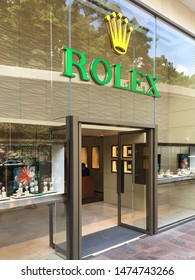 HONG KONG - SEPTEMBER 15, 2017: Rolex store in Canton Road. Rolex SA is a Swiss luxury watchmaker and the largest single luxury watch brand, producing about 2,000 watches per day.