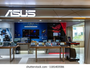 HONG KONG - September 17, 2018:  Asus store in Hong Kong.