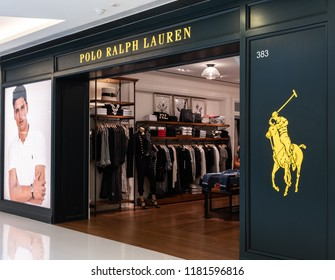 HONG KONG - September 17, 2018: Polo Ralph Lauren store in Hong Kong. Polo Ralph Lauren is an American corporation founded in 1967 by American fashion designer Ralph Lauren.
