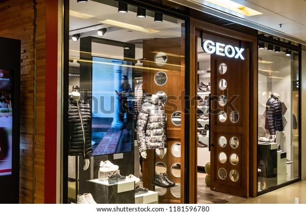 programa personal radioactividad  Hong Kong September 17 2018 Geox Stock Photo (Edit Now) 1181596780