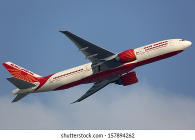 HONG KONG - SEPTEMBER 26: An Air India Boeing 777 taking off on September 26, 2013 in Hong Kong. Air India is the flag carrier airline of India with 101 planes in operation.