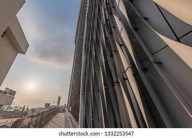 Hong Kong, September 4, 2018: Xiqu Centre, a world-class arts venue for xiqu or Chinese opera, is seen in the West Kowloon Cultural District, Hong Kong. The Centre is expected to open in 2019.