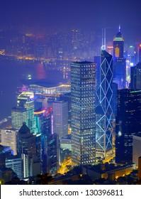 Hong Kong skyline from Victoria Peak.