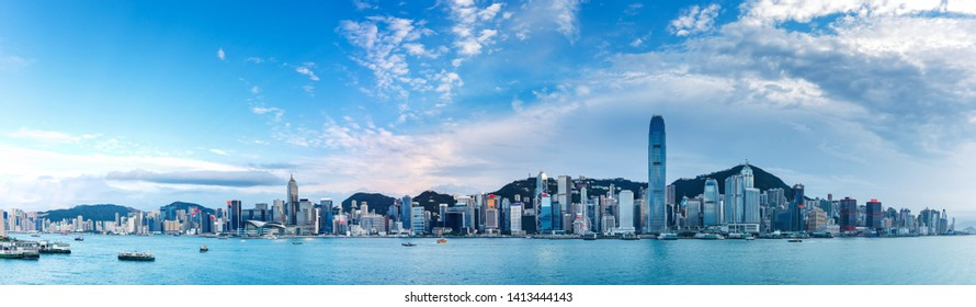 Hong Kong skyline, View From Victoria Harbour
