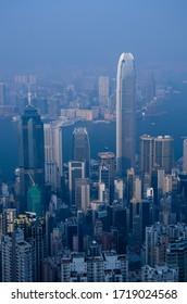 Hong kong Skyscraper Building Big city View