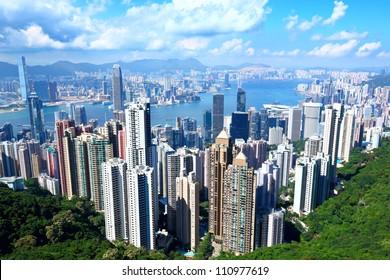 Hong Kong in sunny day