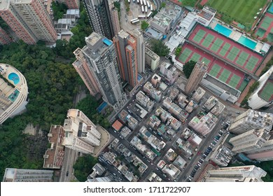 Hong Kong Tai Hang buildings drone