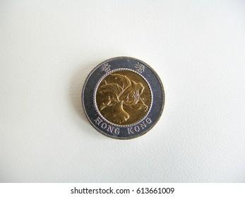 Hong Kong ten dollar coin