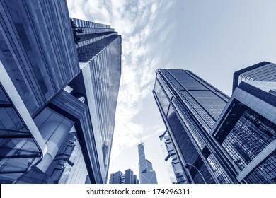 Hong Kong urban landscape, landmark buildings in the admiralty