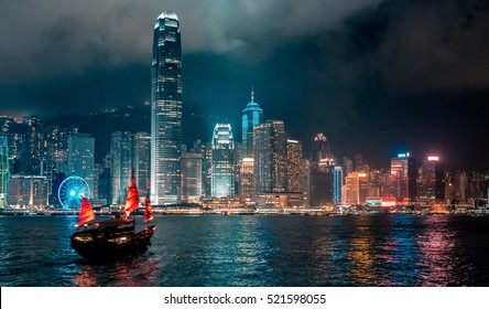 Hong Kong Victoria Harbor night view