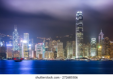 Hong Kong Victoria Harbor Scenes with HDR tone Tuned