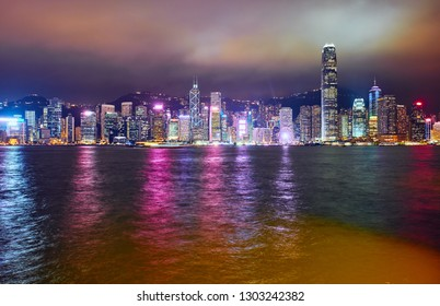Hong Kong Victoria Harbour Night View