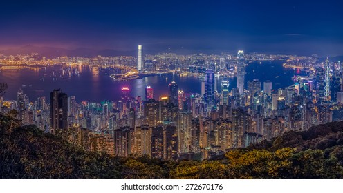 Hong Kong Victoria view from Peak with HDR Tone tuned