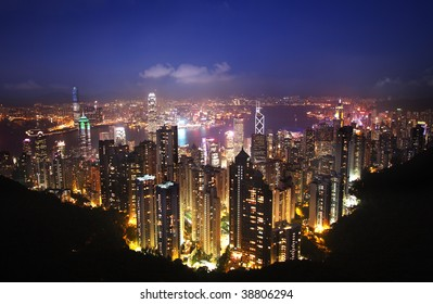 Hong Kong view from Mount Victoria