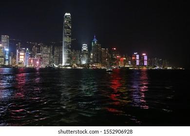 Hong Kong waterfront by night