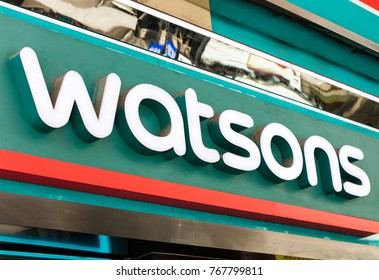HONG KONG-AUGUST 14, 2017: Watsons store; Watsons Personal Care Stores is the largest health care and beauty care chain store in Asia. It operates over 700 stores