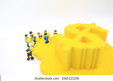 Hong Kong/China, March 25 2018: Studio shot of Lego people, combine from different set in Hong Kong.Legos are a popular line of plastic construction toys manufactured by The Lego Group in Denmark