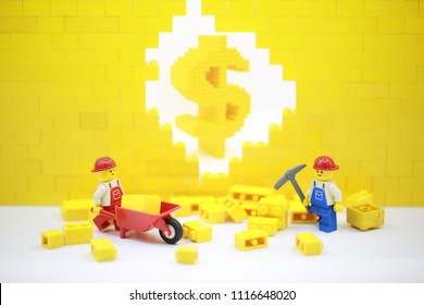 Hong Kong/China, May 25 2018: Studio shot of Lego people, combine from different set in Hong Kong.Legos are a popular line of plastic construction toys manufactured by The Lego Group in Denmark