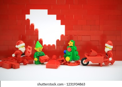 Hong Kong/China, November 1 2018: Studio shot of Lego people, combine from different set in Hong Kong.Legos are a popular line of plastic construction toys manufactured by The Lego Group in Denmark