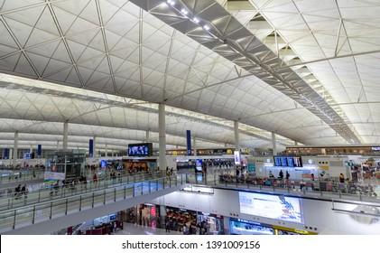 Hong Kong/China-20190328:Hong Kong international airport