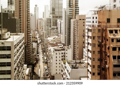 Hong Kong's crowded old city