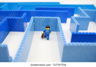 HONG KONG,SEPT 1: lego mini characters  which are isolated on white in hong kong on 1 September 2017. Lego minifigure are the successful line in Lego products