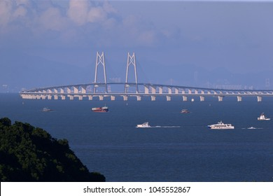 Hong Kong-Zhuhai-Macao Bridge across the sea