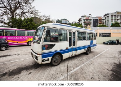 HONGKONG -FEBRUARY 22 2016: City bus station in Hong Kong on FEBRUARY 22 2016, Touristic Bus at Hong Kong,Hong Kong is one of the most desired touristic destination in the world