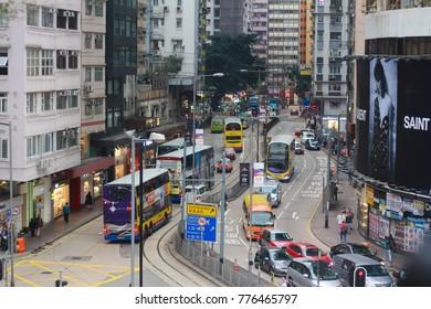 Hongkong, Hongkong-March 25, 2017 - Traveling in Hongkong, transportation Hongkong city.