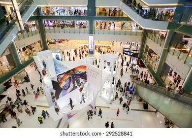 3daf9e8d990538 HONGKONG - MAY 17  shopping center interior on May 17