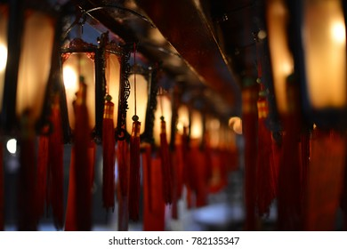 Hongkong. old temple. lamps