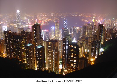 Hongkong View From The Top Of Victoria Peak