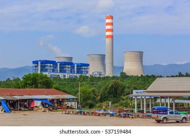 Hongsa Power Company Limited (HPC) in laos. photo were taken on December 5 2016. this is dump power company at Xayabury province, Lao PDR.