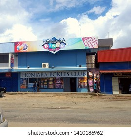 Honiara/Solomon Islands - May 28 2019: Honiara Bingo haus, was formally know as Honiara Casino in the 1990's and early 2000's, situated in the heart of Honiara City.