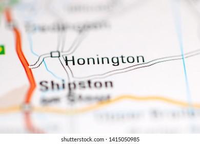 Honington. United Kingdom on a geography map