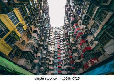 Honk Kong - April 10 2019: Yick Fat or Monster Building urban housing apartment