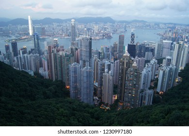Honk Kong city skyscrapers
