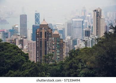 Honk Kong  island / Peak view