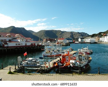 Honningsvag Harbor at the small town of Honningsvag, Gateway to North Cape, Norway, 15th July 2013