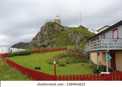 Honningsvag, Norway, August 26th 2018: Lighthouse in Honningsvag