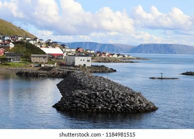 Honningsvag, Norway, August 26th 2018: Harbourside scene in Honningsvag