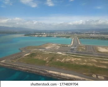 Honolulu airport with an airplane