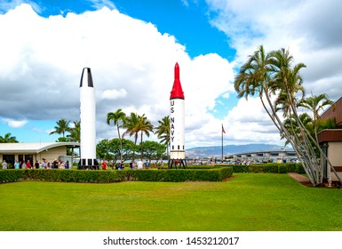 Honolulu, Awaii - May 3, 2019: Pearl Harbor, the entrance of the historical site
