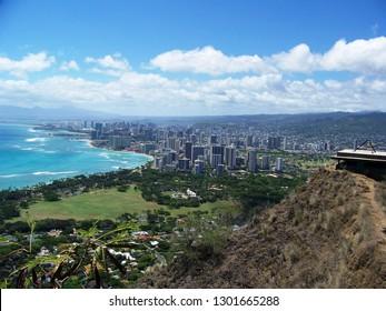 Honolulu from Diamondhead summit